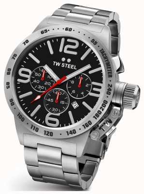 TW Steel Mens Canteen 45mm Chrono Stainless Steel CB7