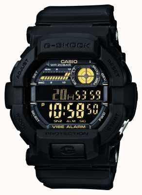 Casio G-Shock Vibrating 5 Alarm Watch Black Yellow GD-350-1BER