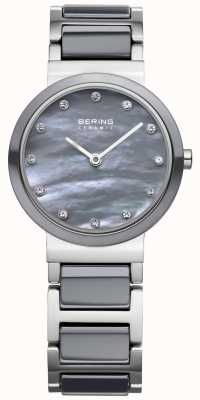 Bering Womens Stainless Steel Grey Ceramic 10725-789
