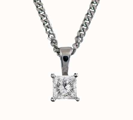 18ct White Gold 'Princess Cut' 0.20ct H SI PRINCESS-P020