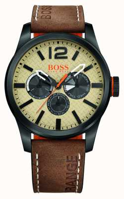 Hugo Boss Orange Hugo Boss Paris Brown Strap 1513237