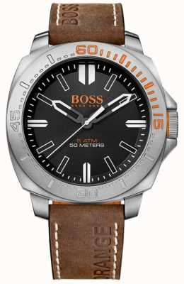 Hugo Boss Orange Gents Sao Paulo Brown Leather Strap Watch 1513294