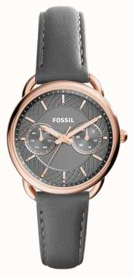 Fossil Womens Tailor Grey Leather Strap Grey Dial ES3913