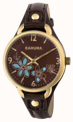 Kahuna Womens Brown Strap Brown Dial KLS-0308L