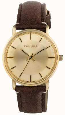 Kahuna Womens Brown Strap Champagne Dial KLS-0326L