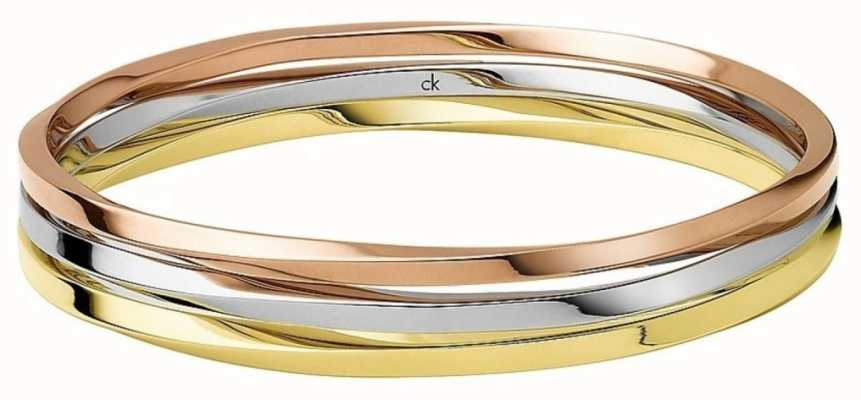Calvin Klein Exclusive Three Tone Bangle KJ0KDD30010S