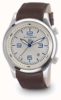 Elliot Brown Mens Canford Brown Leather White Dial 202-001-L09