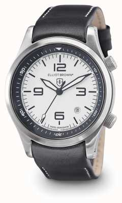 Elliot Brown Mens Canford Black Leather White Dial 202-005-L02
