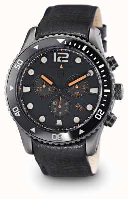 Elliot Brown Mens Bloxworth Black Leather Grey Dial 929-004-L01