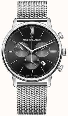 Maurice Lacroix Mens Milanais Stainless Steel Black Dial EL1098-SS002-310-1