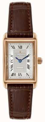 Dreyfuss Womens 1974 Brown Leather Strap Silver Dial DLS00143/06