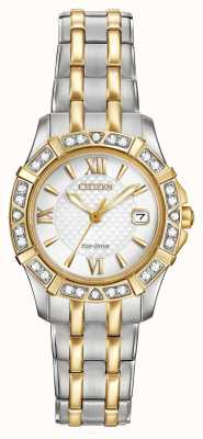 Citizen Eco-Drive 28 Diamonds Womens Two Tone EW2364-50A