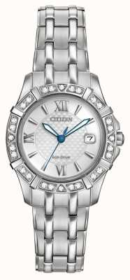 Citizen Eco-Drive 28 Diamonds Stainless Steel EW2360-51A