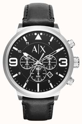 Armani Exchange Mens Urban Black Leather Strap AX1371