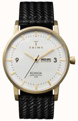 Triwa Unisex White Dial Klinga With Leather Strap KLST103-GC010113