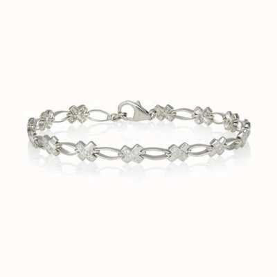 Perfection Swarovski Silver Stone Set Kiss Bracelet B8002