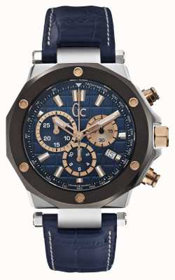 Gc X7202Mens Gc-3 Chronograph Blue Leather Strap X72025G7S