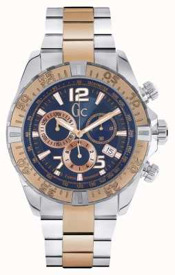 Gc Mens Gc Sportracer Two Tone Chronograph Y02002G7