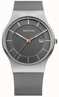 Bering Mens Grey Strap Grey Dial 11938-007