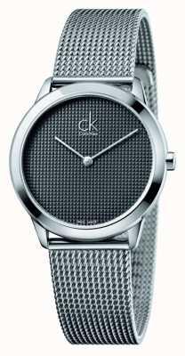 Calvin Klein Minimal Mesh Bracelet Black Dial K3M2212X