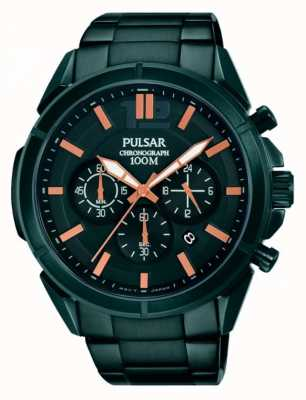 Pulsar Mens Black Dial Black Stainless Steel Strap PT3765X1