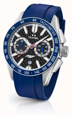 TW Steel Mens Yamaha Blue Silicone Strap GS3