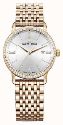Maurice Lacroix Eliros Womens Stainless Steel Pvd Pink With 60 Diamonds EL1094-PVPD6-112-1