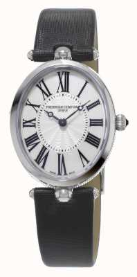 Frederique Constant Classics Art Deco Womens Black Strap White Mother Of Pearl FC-200MPW2V6