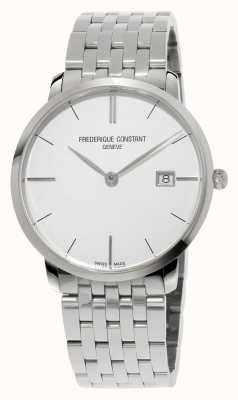 Frederique Constant Slimline Mens Watch 39mm Sapphire Glass Silver Dial FC-220S5S6B
