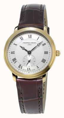 Frederique Constant Slimline Womens Ultra Slim Gold Plated Leather Strap FC-235M1S5