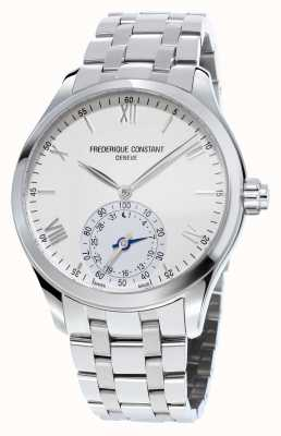 Frederique Constant Horological Smartwatch Stainless Steel White Dial Sapphire FC-285S5B6B