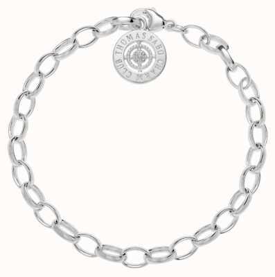 Thomas Sabo Bracelet 19.5cm Charm Carrier White 925 Sterling Silver DCX0001-725-14-L