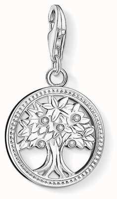 Thomas Sabo Tree Of Life Charm White 925 Sterling Silver/ Zirconia 1303-051-14