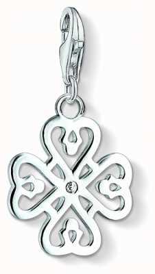 Thomas Sabo Cloverleaf Charm White 925 Sterling Silver/ Zirconia 1323-051-14