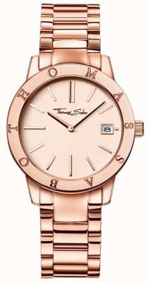 Thomas Sabo Womans Rose Gold Coloured Dial Stainless Steel WA0175-265-208-33