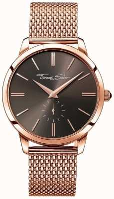 Thomas Sabo Men's Stainless Steel Strap Rose Gold Dial WA0177-265-206-42