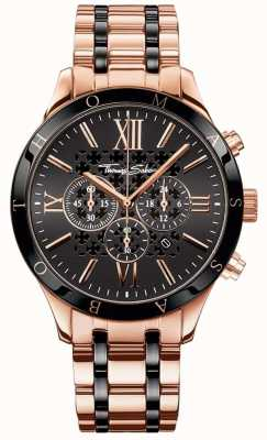 Thomas Sabo Mens Rebel Urban Rose Gold Tone Chronograph Watch WA0187-267-203-43