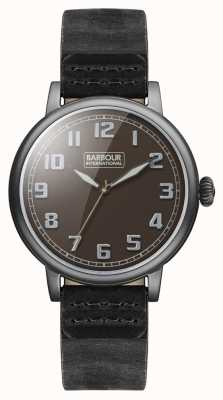 Barbour Hawkins Mens Watch Black Leather Strap BB042BKBK
