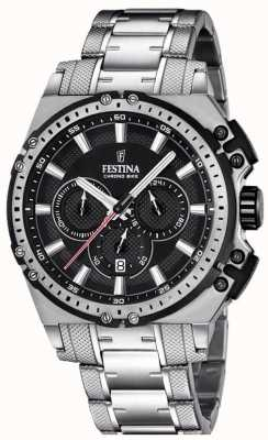 Festina 2016 Chronobike Mens Chronograph Watch Black Dial F16968/4