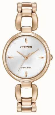 Citizen Womens Rose Gold PVD Plated Bracelet EM0423-56A