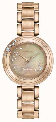 Citizen Womens Eco-Drive Six Diamonds Gold Plated EM0463-51Y