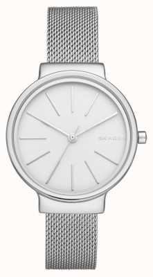 Skagen Womans Stainless Steel Silver Mesh Strap Round Dial SKW2478