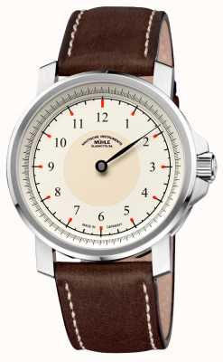 Muhle Glashutte M 29 Classic Einzeiger Leather Band Cream Dial M1-25-59-LB