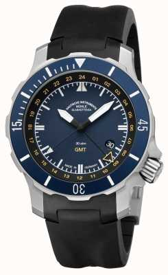 Muhle Glashutte Seebataillon GMT Indian Rubber Band Blue Dial M1-28-62-KB