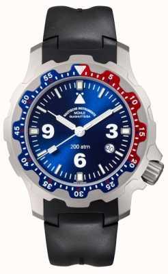 Muhle Glashutte Mens Rasmus 2000 Black Rubber Strap Watch M1-28-82-KB