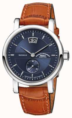 Muhle Glashutte Teutonia II Kleine Sekunde Leather Band Night Blue Dial M1-33-42-LB