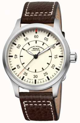 Muhle Glashutte Terrasport I Observer Leather Band Cream Dial M1-37-37/4-LB