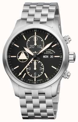 Muhle Glashutte Terranaut I Trail (stainless steel) Stainless Steel  Band Black  Dial M1-40-53-MB