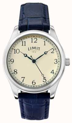 Limit Womens Blue Leather Strap Cream Dial 6180.01