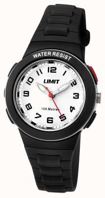 Limit Kids Black Resin Strap White Dial 5591.24